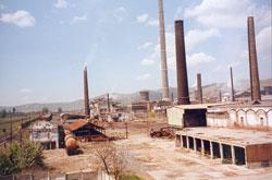 Industrielandschaft bei Copsa Mica